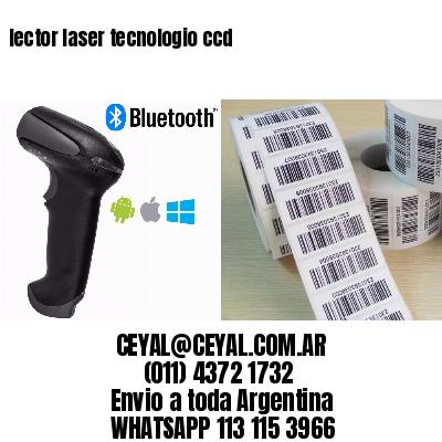 lector laser tecnologio ccd