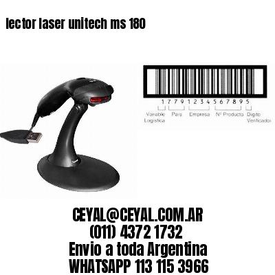 lector laser unitech ms 180
