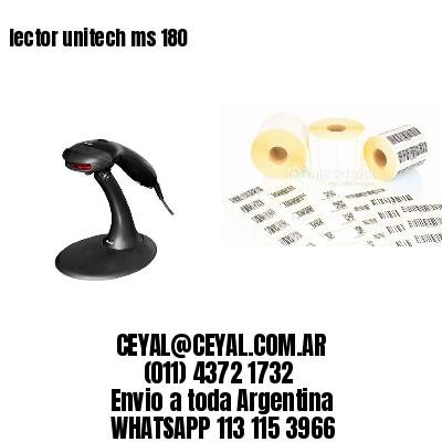 lector unitech ms 180