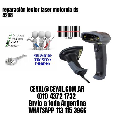 reparación lector laser motorola ds 4208