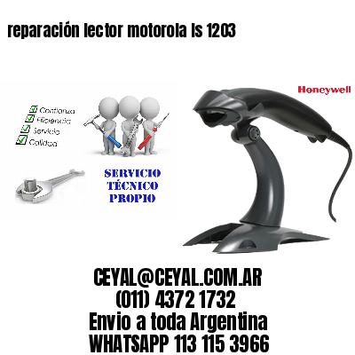 reparación lector motorola ls 1203