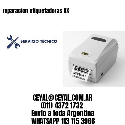 reparacion etiquetadoras GX