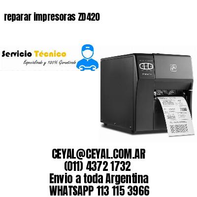 reparar impresoras ZD420