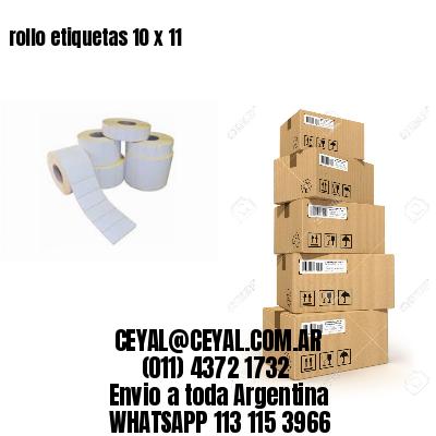 rollo etiquetas 10 x 11