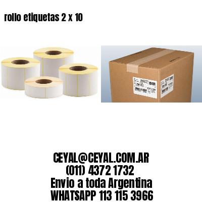 rollo etiquetas 2 x 10