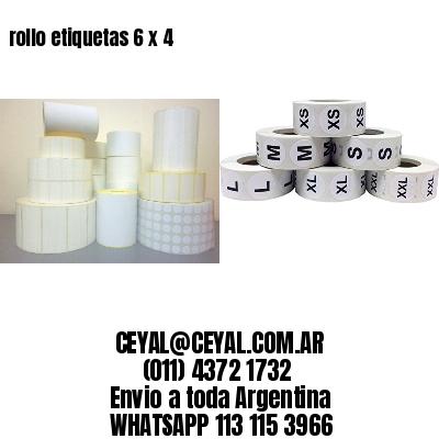 rollo etiquetas 6 x 4