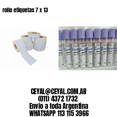 rollo etiquetas 7 x 13