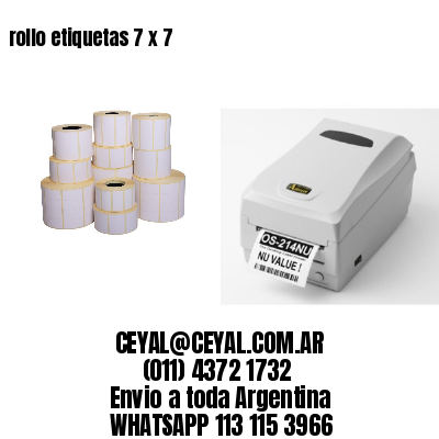 rollo etiquetas 7 x 7
