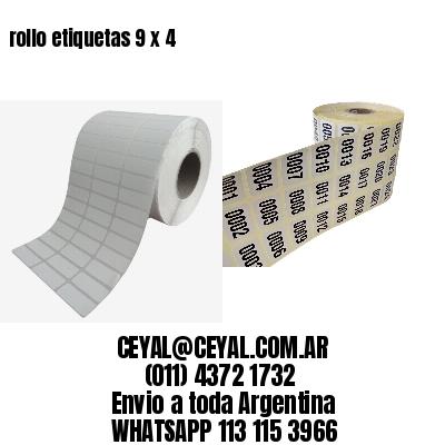 rollo etiquetas 9 x 4