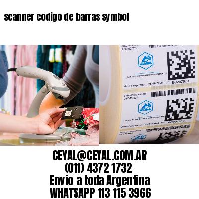 scanner codigo de barras symbol