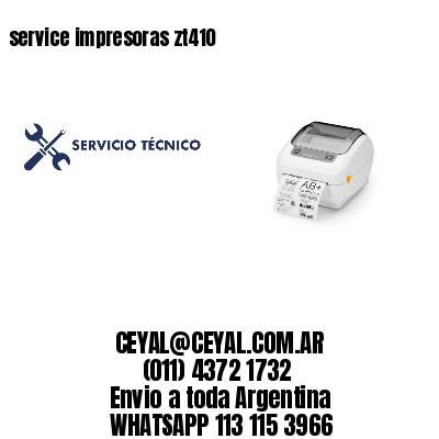 service impresoras zt410