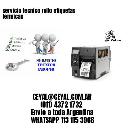 servicio tecnico rollo etiquetas termicas