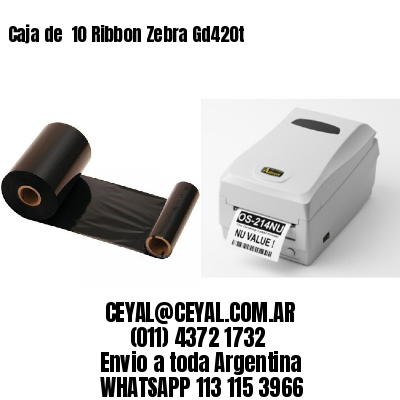 Caja de  10 Ribbon Zebra Gd420t