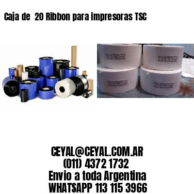 Caja de  20 Ribbon para impresoras TSC