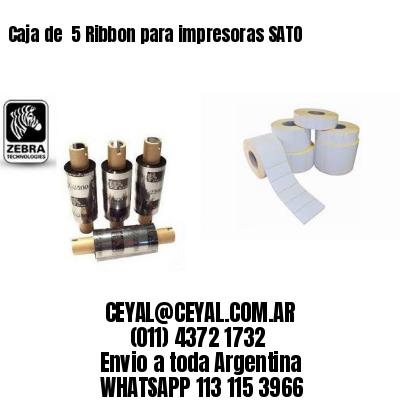 Caja de  5 Ribbon para impresoras SATO