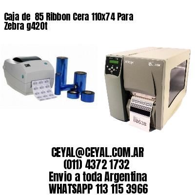 Caja de  85 Ribbon Cera 110x74 Para Zebra g420t