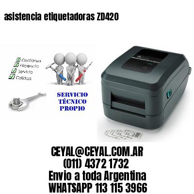 asistencia etiquetadoras ZD420