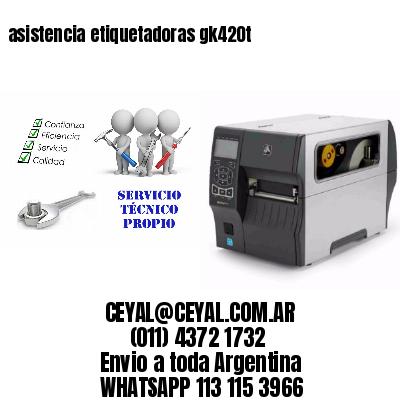 asistencia etiquetadoras gk420t
