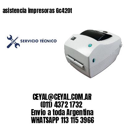 asistencia impresoras Gc420t