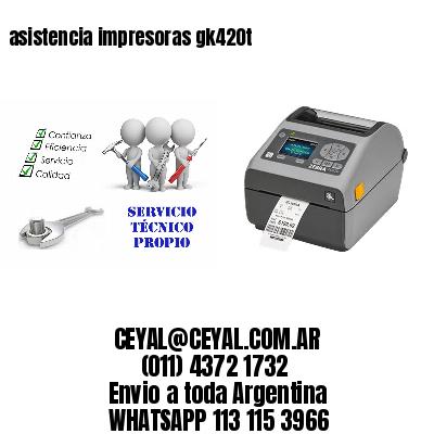asistencia impresoras gk420t