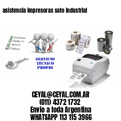 asistencia impresoras sato industrial
