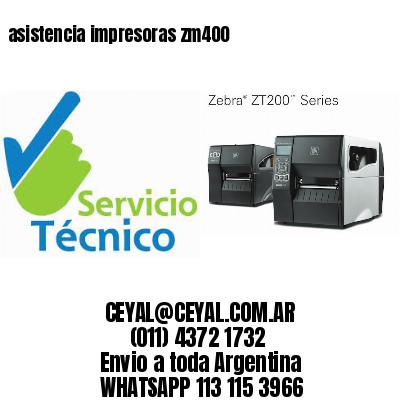 asistencia impresoras zm400