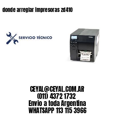 donde arreglar impresoras zd410