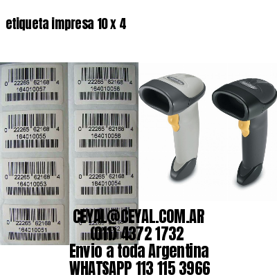 etiqueta impresa 10 x 4