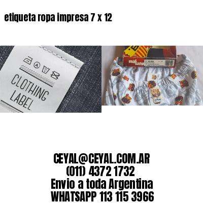 etiqueta ropa impresa 7 x 12