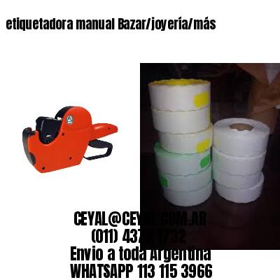 etiquetadora manual Bazar/joyería/más