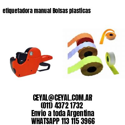 etiquetadora manual Bolsas plasticas