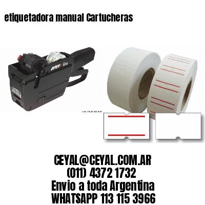 etiquetadora manual Cartucheras