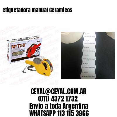 etiquetadora manual Ceramicos