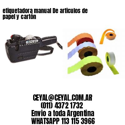etiquetadora manual De articulos de papel y cartón