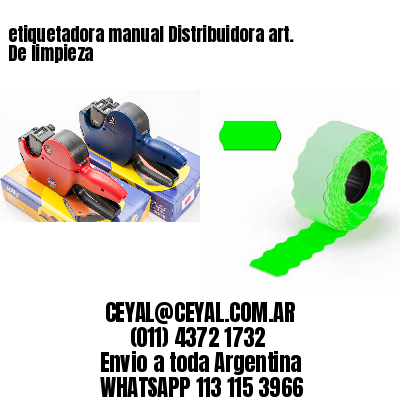 etiquetadora manual Distribuidora art. De limpieza