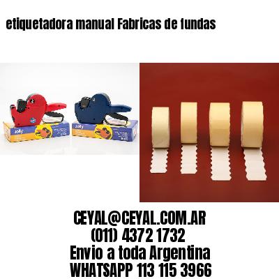 etiquetadora manual Fabricas de fundas