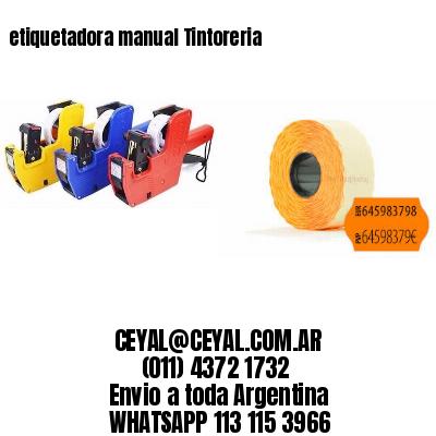 etiquetadora manual Tintoreria