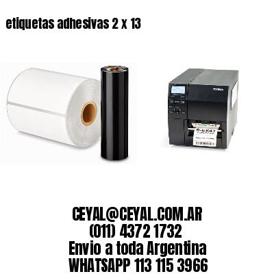 etiquetas adhesivas 2 x 13