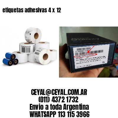 etiquetas adhesivas 4 x 12