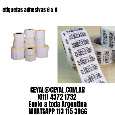 etiquetas adhesivas 6 x 8