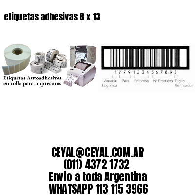 etiquetas adhesivas 8 x 13