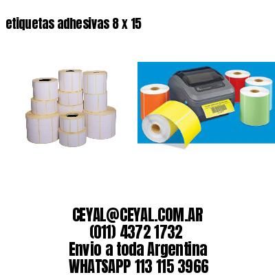 etiquetas adhesivas 8 x 15