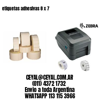 etiquetas adhesivas 8 x 7