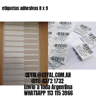 etiquetas adhesivas 8 x 9