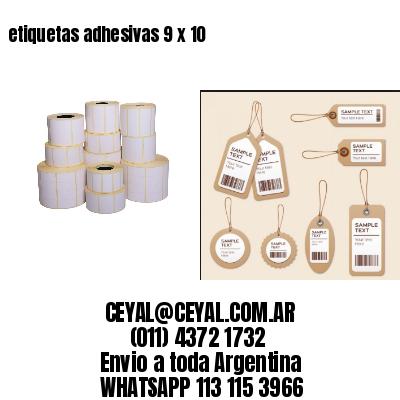 etiquetas adhesivas 9 x 10