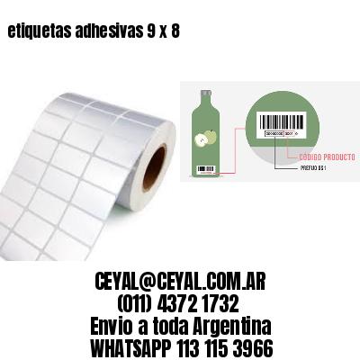 etiquetas adhesivas 9 x 8
