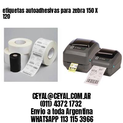 etiquetas autoadhesivas para zebra 150 X 120