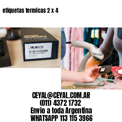 etiquetas termicas 2 x 4