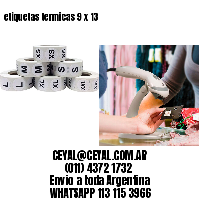 etiquetas termicas 9 x 13
