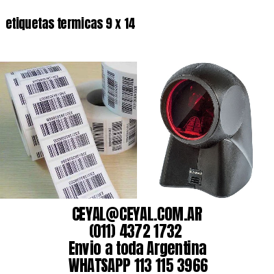 etiquetas termicas 9 x 14